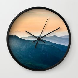 Early Morning Mountains Wall Clock