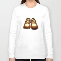 shoes Long Sleeve T-shirts featuring Shoes by Kimball Gray