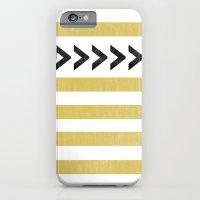 ARROW STRIPE {MUSTARD} iPhone 6s Slim Case