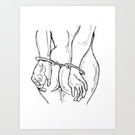 Handcuffs Art Print