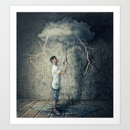 umbrella cloud Art Print