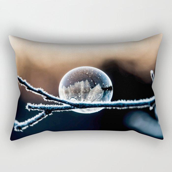 Wintry World in Frozen Bubble Rectangular Pillow