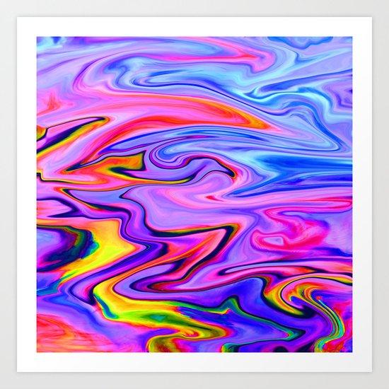Marbled X Art Print