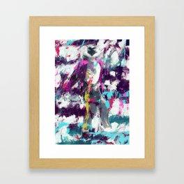 MJ POP KING Framed Art Print