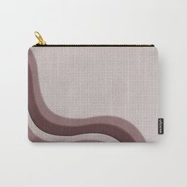 Pantone Red Pear Soothing Waves with Canvas Texture Carry-All Pouch