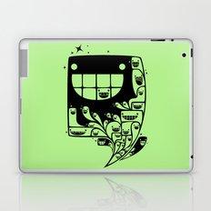 Happy Inside - 1-Bit Oddity - Black Version Laptop & iPad Skin