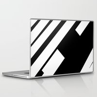 stripe Laptop & iPad Skins featuring stripe by noirblanc777