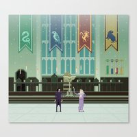 hogwarts Canvas Prints featuring Hogwarts by FuliFuli