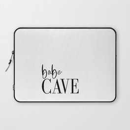 Babe Cave Vinyl Wall Decal, Baby Nursery Wall Decor, Typography Wall Sticker, Removable Wallpaper, G Laptop Sleeve