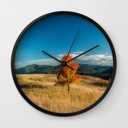 Simple Fall Tree Wall Clock