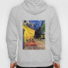 The cafe terrace on the place du forum, Arles, at night, by Vincent van gogh.  Hoody