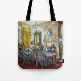 Steampunk Family Dinner Tote Bag