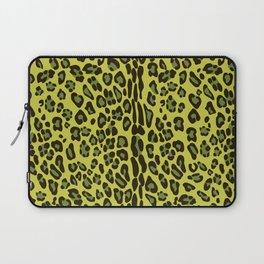 Leopard seamless pattern design. Yellow. Green. Laptop Sleeve