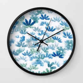 Centaurea Cyanus (Cornflower) Wall Clock