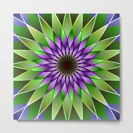 Lavender lotus mandala Metal Print