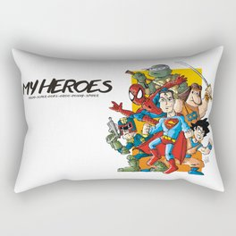 My Heroes Rectangular Pillow