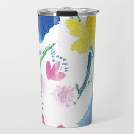 Watercolor Wildflowers Travel Mug