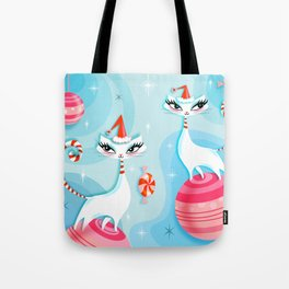 Mod Kitty Christmas Tote Bag