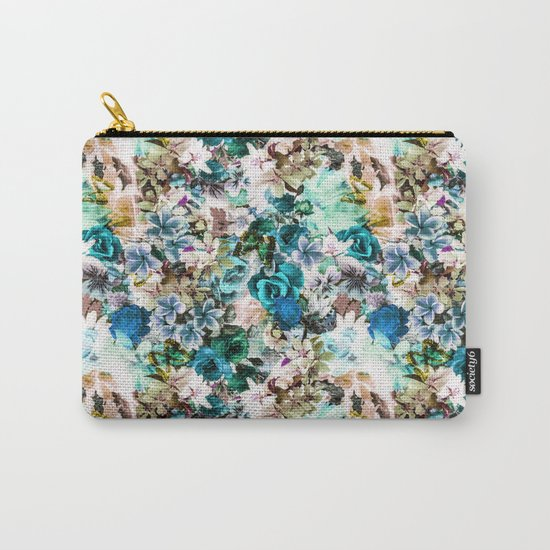 Floral Pattern V2 Carry-All Pouch
