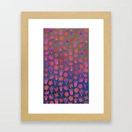 Moon-flowers - Full Moon Framed Art Print
