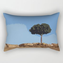 Sounion tree Rectangular Pillow