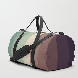autumn season color pattern - striped fall colors Duffle Bag