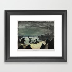 World At War - 'While The Captain Was Out' Framed Art Print