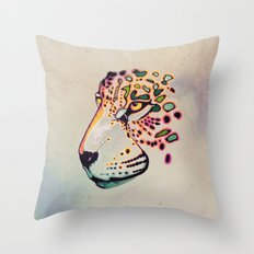 Fractal Jaguar Throw Pillow