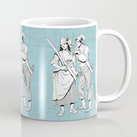 pirates Mugs featuring Pirates by Art of Tom Tierney