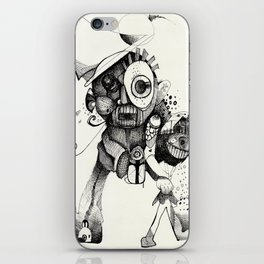 The Mad Hatter B&W iPhone Skin