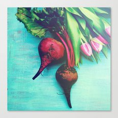 The Beet Goes On - Red Beet Canvas Print