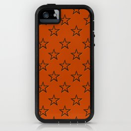 Orange stars pattern iPhone Case