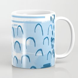 Yesta - abstract painting indigo blue dots mark making canvas painting Coffee Mug