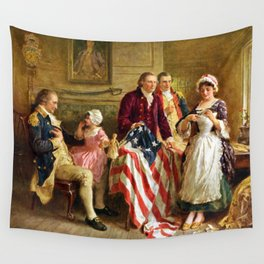 Betsy Ross and General George Washington Wall Tapestry