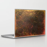 middle earth Laptop & iPad Skins featuring Middle Earth, Abstract Nature Rustic Grunge Art by Itaya Art