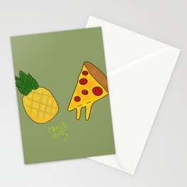 Pineapple Pizza Stationery Cards