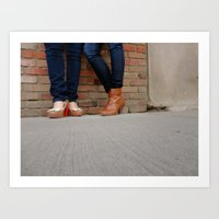heels Art Prints featuring Heels by Shayna Andrus
