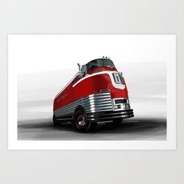 The 1940 GM Futureliner Art Print
