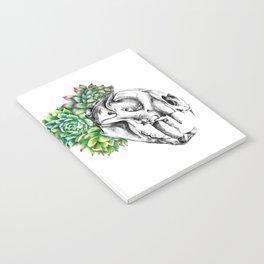 Rock Rose Cat Skull Notebook