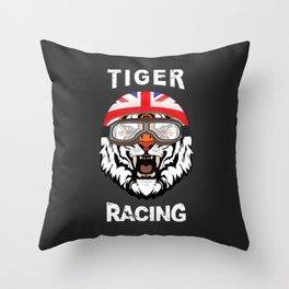 Tiger Racing Throw Pillow