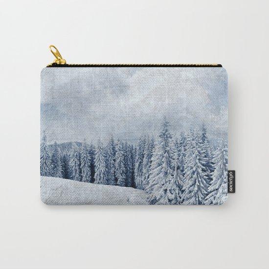 Pretty winter scenery landscape  Carry-All Pouch