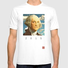 washington buds 5 SMALL White Mens Fitted Tee
