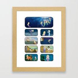 Little Sea Lady I Framed Art Print