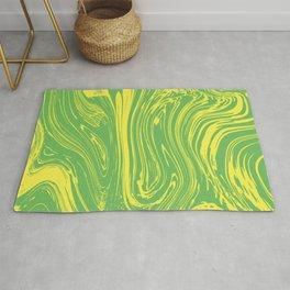 Green Fluid by pahagh Rug