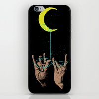 the moon iPhone & iPod Skins featuring MOON by GENO