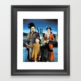 Michael Myers in Mary Poppins Framed Art Print