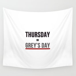 Grey's Day Wall Tapestry