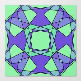 Green Modern Art Canvas Print