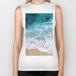 Ocean Waves I Biker Tank