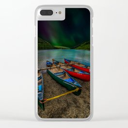 Lake Geirionydd Canoes Clear iPhone Case